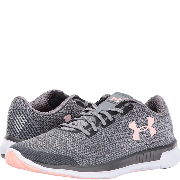 Under Armour Grey Pink Tennis Shoes